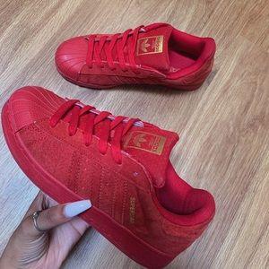 adidas Shoes - Red Shell Toe Adidas
